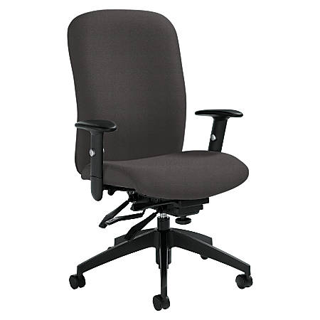 "Global® Truform Medium-Back Multi-Tilter Adjustable Chair, 38 1/2""H x 26""W x 25""D, Graphite"