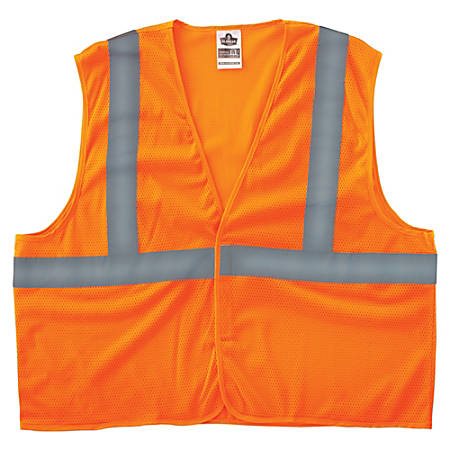 8205HL L/XL Orange Type R Class 2 Super Econo Mesh Vest