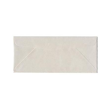 "JAM Paper® Business Booklet Envelopes, #10, 4 1/8"" x 9 1/2"", Quartz White Stardream Metallic, Pack Of 25"
