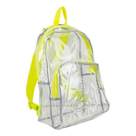 Eastsport Clear PVC Backpack, Citrus