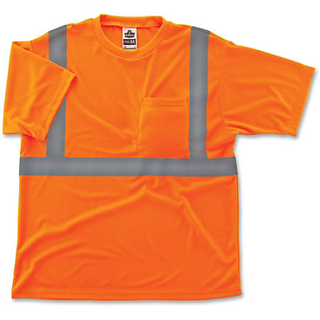 Ergodyne GloWear® 8289 Type R Class 2 T-Shirt, Large, Reflective Orange