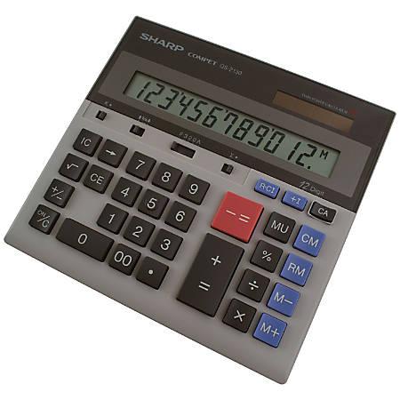 Sharp QS-2130 12-Digit Dual-Power Desktop Calculator