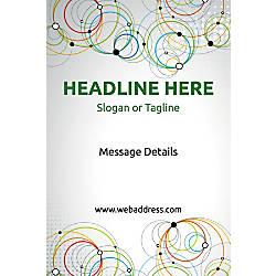 Adhesive Sign Abstract Circles Vertical