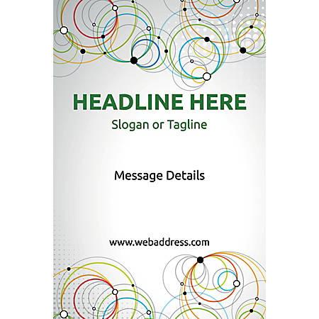 Adhesive Sign, Abstract Circles, Vertical