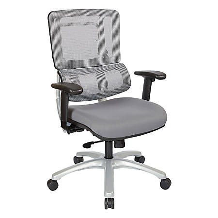 Pro-Line II™ Pro X996 Vertical Mesh High-Back Chair, Gray/Dove Steel/Silver