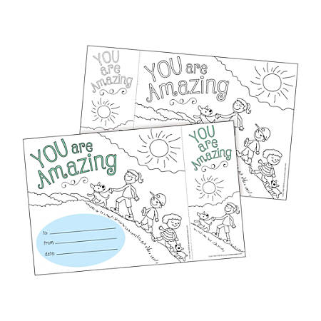 Barker Creek Color Me! Awards And Bookmarks Set, You Are Amazing