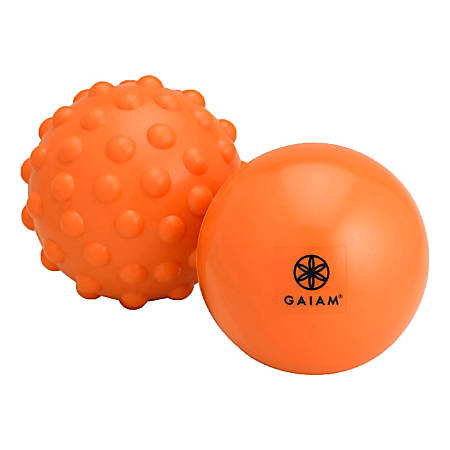 Gaiam Restore Hot & Cold 2-Piece Massage Kit, Orange