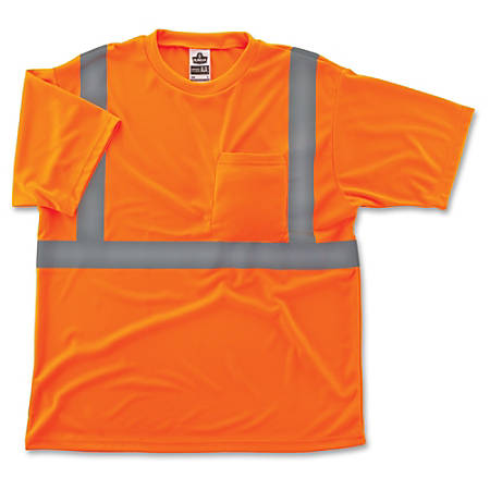 GloWear Class 2 Reflective Orange T-Shirt - Medium Size