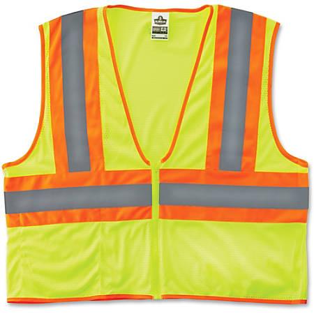 Ergodyne GloWear® Safety Vest, 8229Z Economy 2-Tone Type-R Class 2, Large/X-Large, Lime