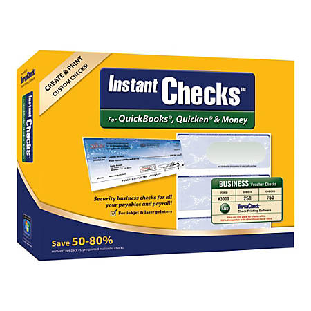VersaChecks® InstantChecks™ Form #3000 Bundle, Traditional Disc
