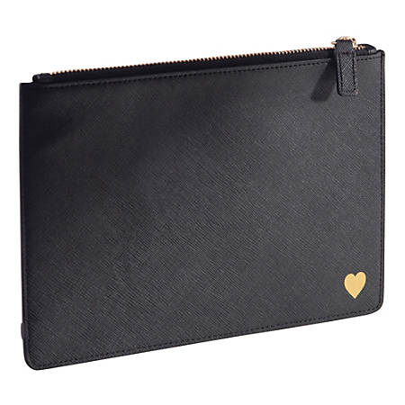 See Jane Work® Faux Leather Pouch, Black