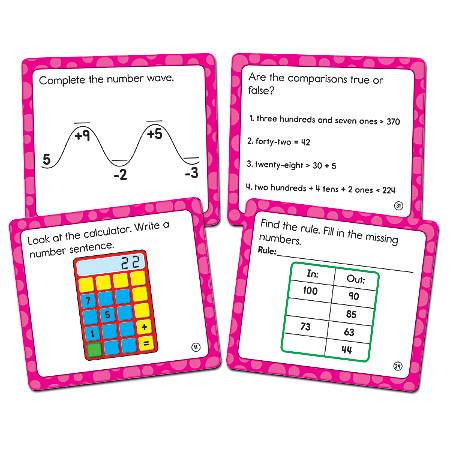 """Carson-Dellosa Math Challenge Curriculum Cut-Outs, 5"""" x 5 1/2"""", Multicolor, Grade 2"""