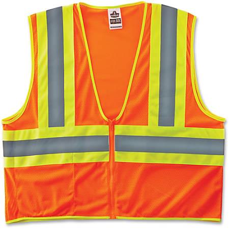 Ergodyne GloWear® Safety Vest, 8229Z Economy 2-Tone Type-R Class 2, Small/Medium, Orange