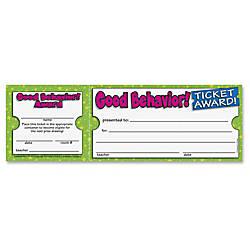 Scholastic Good Behavior Ticket Award 850
