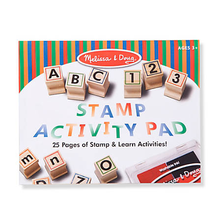 Melissa & Doug Children's Educational Toys, Wooden ABC Activity Stamp Set