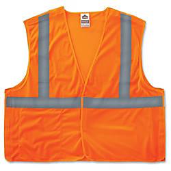 GloWear Orange Econo Breakaway Vest Reflective