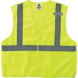 GloWear Lime Econo Breakaway Vest Reflective