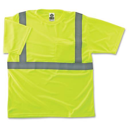 GloWear Class 2 Reflective Lime T-Shirt - Large Size