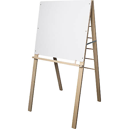 """Flipside Big Book Easel - 24"""" (2 ft) Width x 24"""" (2 ft) Height - White Surface - Rectangle - Assembly Required - 1 Each"""