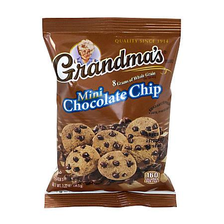 baf073fe9ed Grandma's Mini Chocolate Chip Cookies, 1.22 Oz, Case Of 80 Bags Item #  9185948