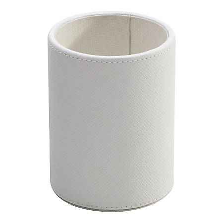 See Jane Work® Faux Leather Pencil Cup, White
