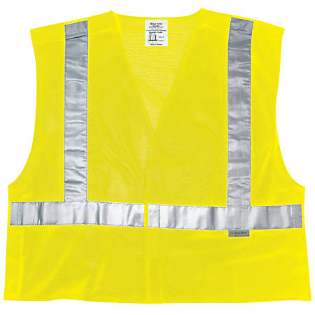 Luminator Class II Tear-Away Safety Vests, X-Large, Fluorescent Lime
