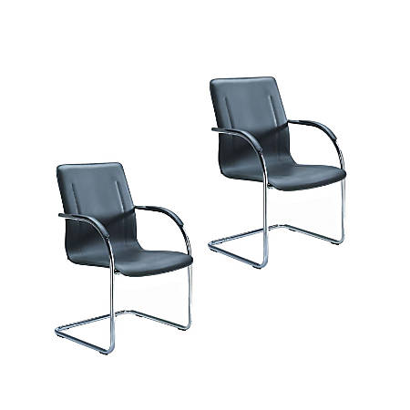 Boss Side Chairs, Black/Black, Set Of 2