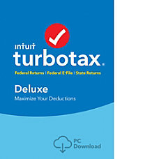 TurboTax Deluxe Fed Efile State 2017