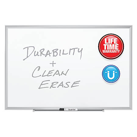 "Quartet® Magnetic Porcelain Dry-Erase Board With Aluminum Frame, 36"" x 48"""