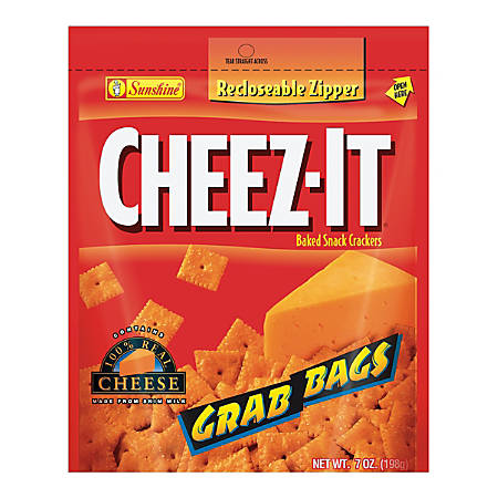 Cheez-It Baked Snack Crackers, Cheddar, 7 Oz Bag