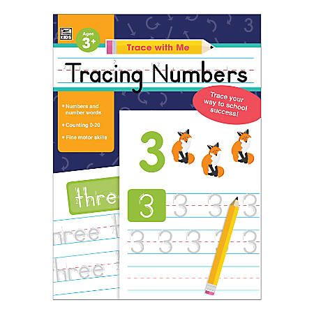 Carson-Dellosa Trace With Me: Tracing Numbers Activity Book, Preschool - Kindergarten