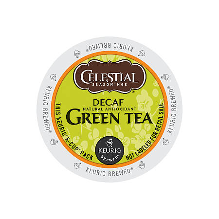 Celestial Seasonings Decaffeinated Green Tea K-Cup® Pods, Box Of 24 Pods