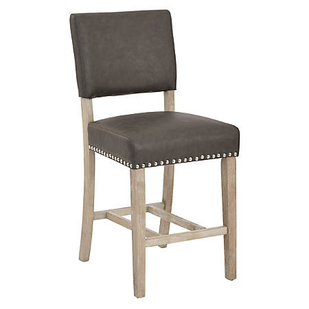Ave Six Carson Counter Stool, Elite Pewter/Sand