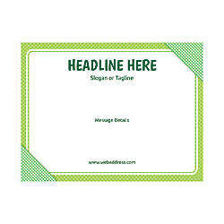Custom Flyer Horizontal Green Plaid