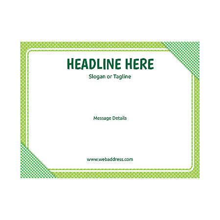 Custom Flyer, Horizontal, Green Plaid