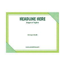 Custom Flyer Horizontal Green Plaid