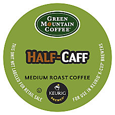 Green Mountain Coffee Half Caff Coffee