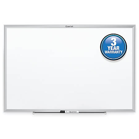 "Quartet® Classic Total Erase® Dry-Erase Board, 36"" x 24"", Silver Aluminum Frame"