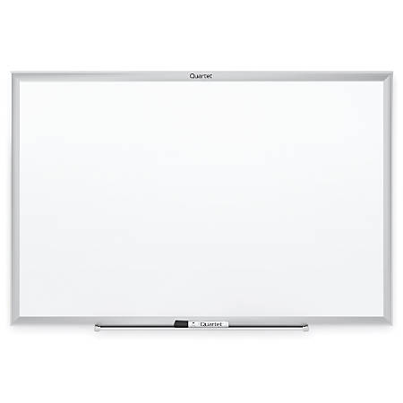 "Quartet® Classic Total Erase® Dry-Erase Board, 36"" x 60"", White, Silver Aluminum Frame"