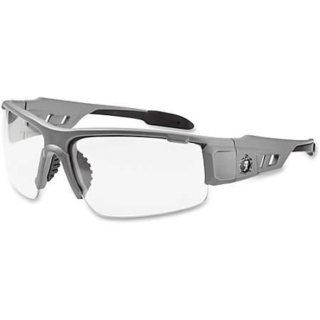Ergodyne Skullerz Safety Glasses, Dagr, Matte Gray Frame, Clear Lens