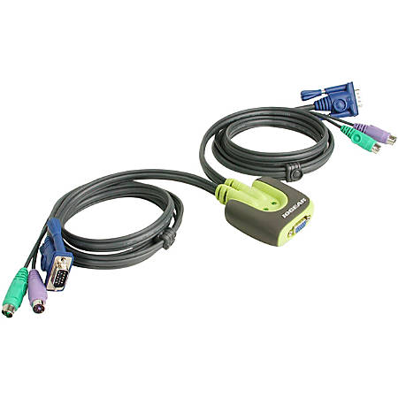 IOGear® MiniView™ Micro KVM Switch With Cables, PS/2