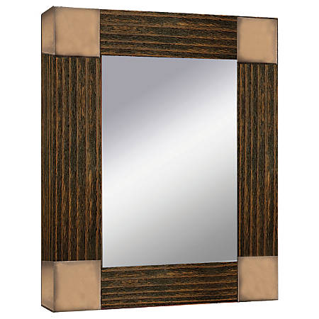 """PTM Images Framed Mirror, Double Glass, 19 3/4""""H x 28""""W, Paris Silver"""