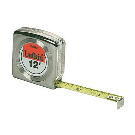 "Lufkin Mezurall Measuring Tape, SAE, 12' x 1/2"" Blade"