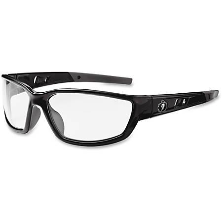 Ergodyne Kvasir Clear Lens Safety Glasses, Black