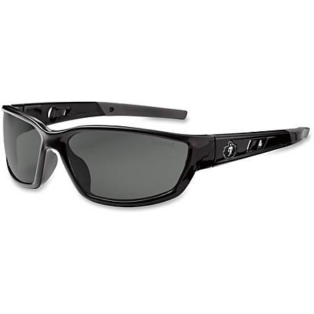 Ergodyne Kvasir Smoke Lens Safety Glasses, Black/Smoke