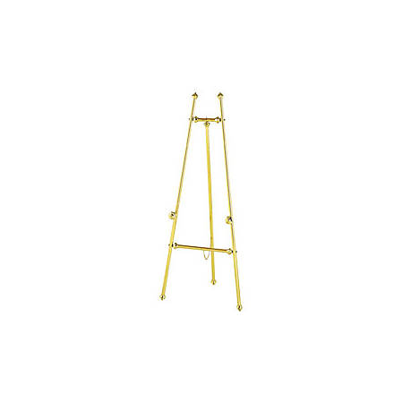 Quartet® Decorative Brass Display Easel With Tripod Base