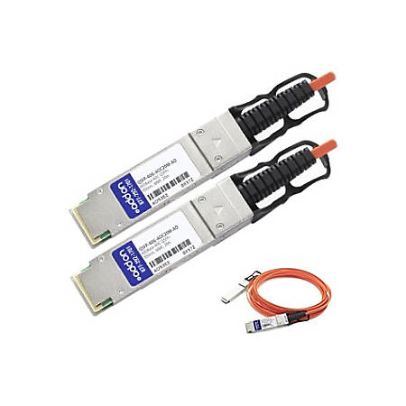 AddOn MSA and TAA Compliant 40GBase-AOC QSFP+ to QSFP+ Direct Attach Cable (850nm, MMF, 20m)