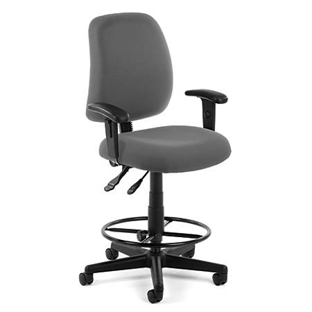 OFM Posture Series Fabric Task Chair With Drafting Kit, Gray/Black