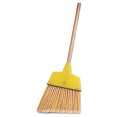 "Weiler Plastic Angle Broom, 54"", Light Brown/Yellow"