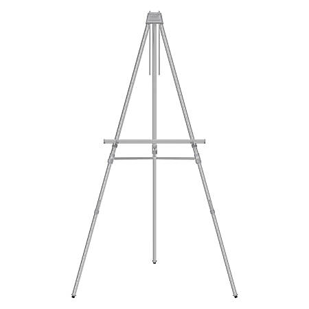 Quartet® Aluminum Heavy-Duty Telescoping Easel, Silver